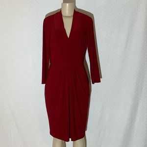 JONES NEW YORK Deep Red Dress Size: 8